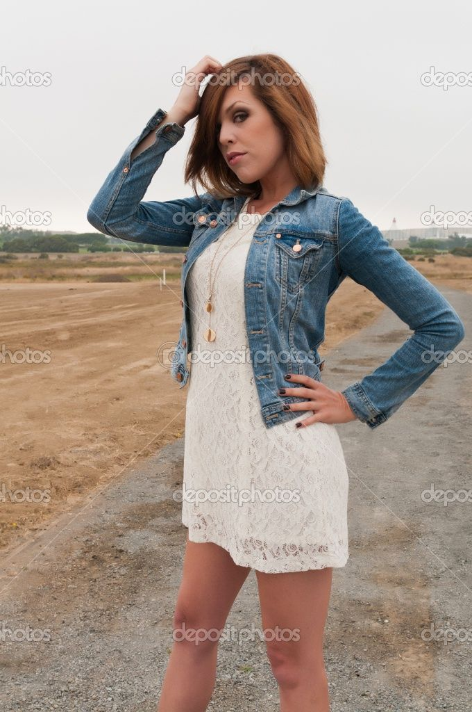 White Dress With Jacket - My Jacket