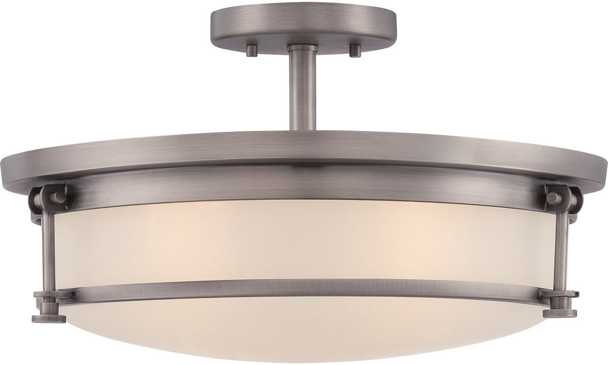 0-011551>Sailor 4-Light Semi-Flush Mount Antique Nickel