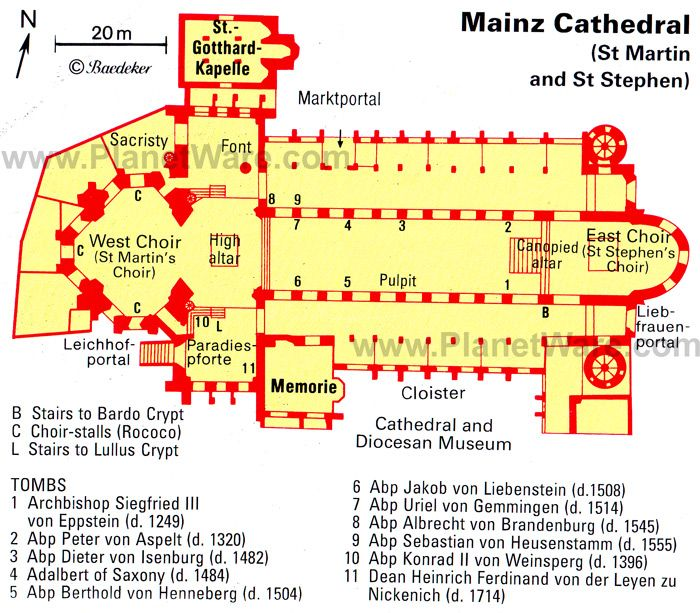 Ottonian Architecture Plan Of The Cathedrals Of Mainz Begun 978 Germany It Was Commissioned By Willigis Cathedral Architecture Mainz Ottonian Architecture