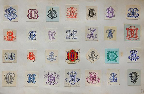 Victorian monogram collection from Le Petit Musee de Lou.