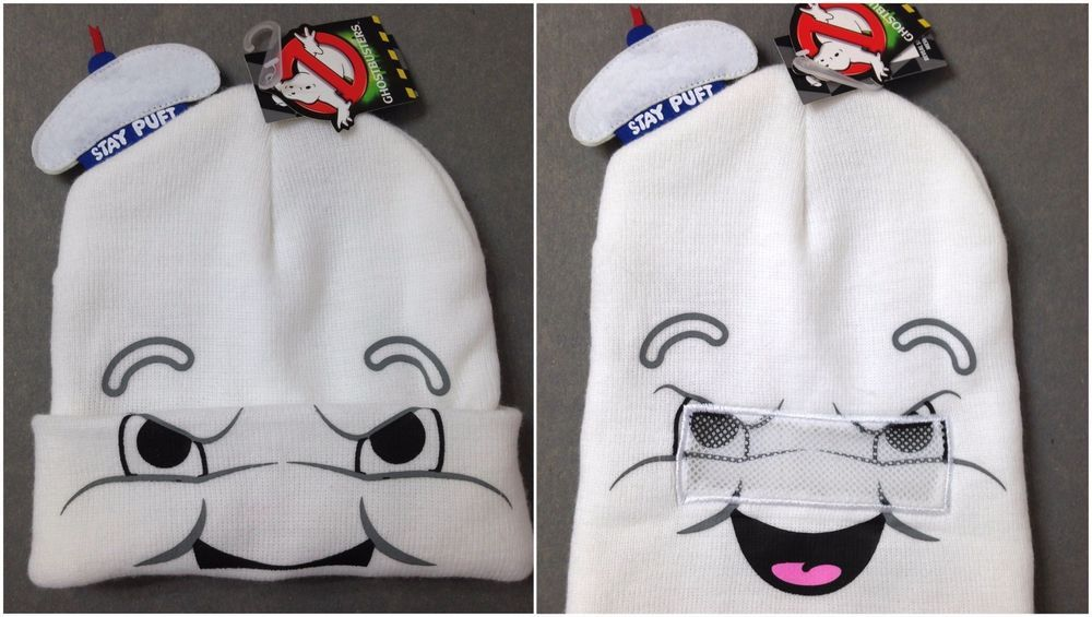 f57888c02f0 STAY PUFT MARSHMALLOW MAN ROLL-DOWN FACE-MASK BEANIE Ghostbusters Winter  Ski Hat  Ghostbusters  Beanie
