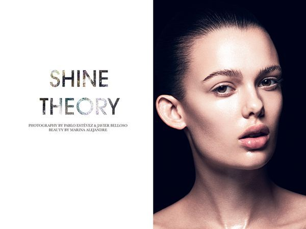 Gleaming Beauty Editorials - The Fashion Gone Rogue 'Shine Theory' Photoshoot Stars Sarah Dick (GALLERY)