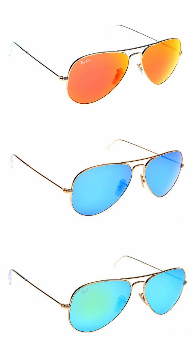 Rayban Limited Edition Coloured Aviators (Orange, Green & Blue)