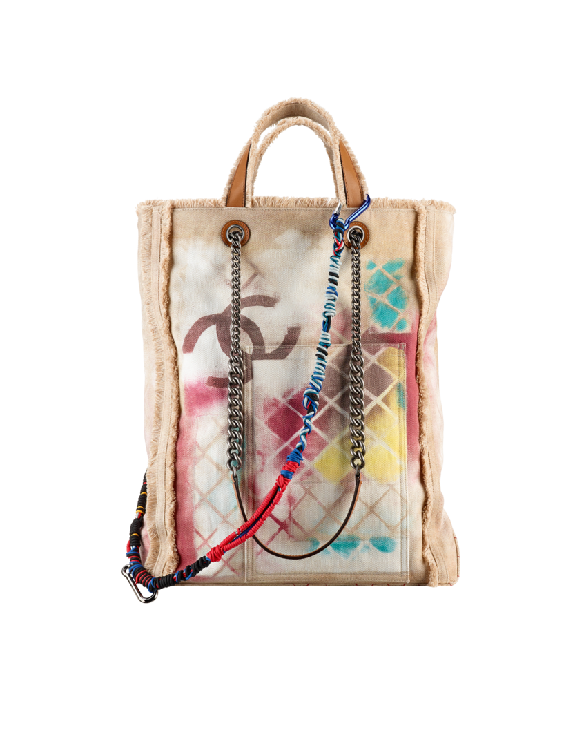 8edde774788c30 LARGE TOTE Large Graffiti Printed Canvas Tote Embellished with Multicolored  Ropes 3,700 USD - CHANEL