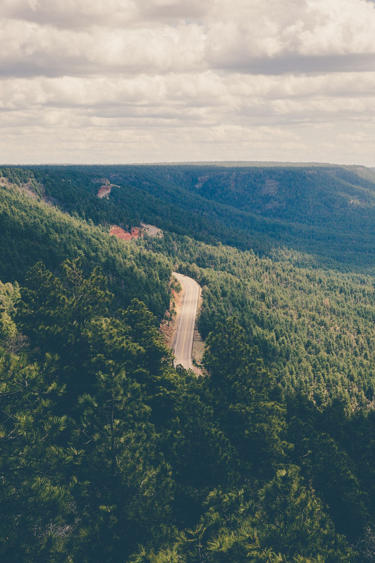 Road through nature | by Jakob Owens This photo as wallpaper on your smartphone? Get the app now!