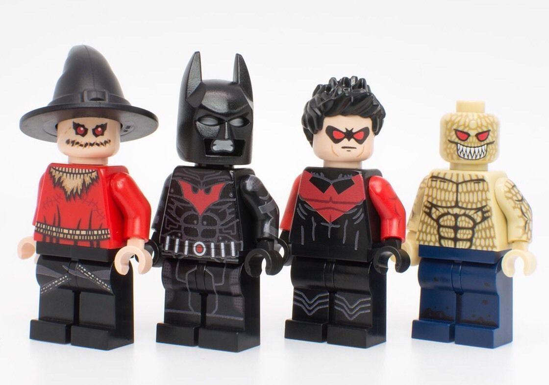 Lego Batman Beyond CUSTOM LOT PRINTED Minifigure Nightwing Scarecrow ...