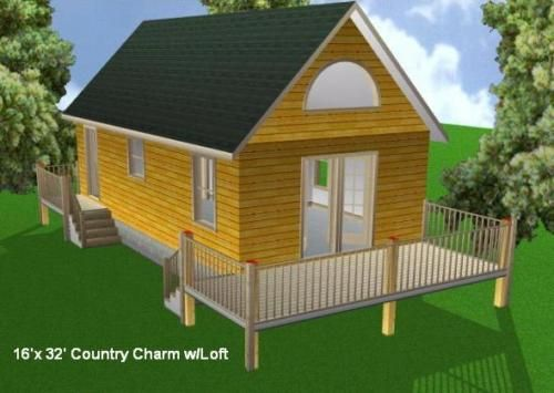 16x32 Cabin W Loft Plans Package Blueprints Material List 610373665708 Ebay Loft Plan Small Shed Plans Shed Building Plans