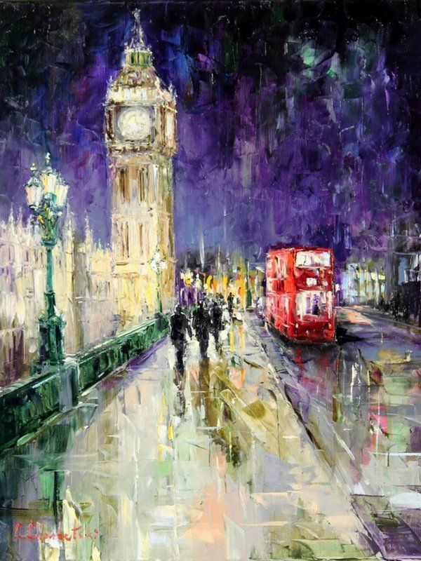 London by Gleb Goloubetski - #pintura #art #artwit #london #painting ♥