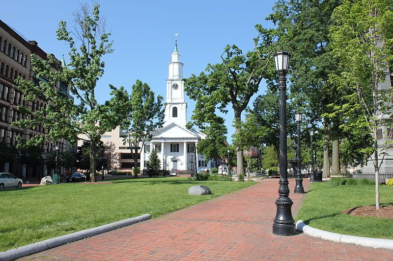 Court square downtown springfield ma a park and