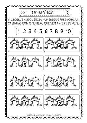 Sequencia Numerica Cachorrinhos Com Imagens Sequencia