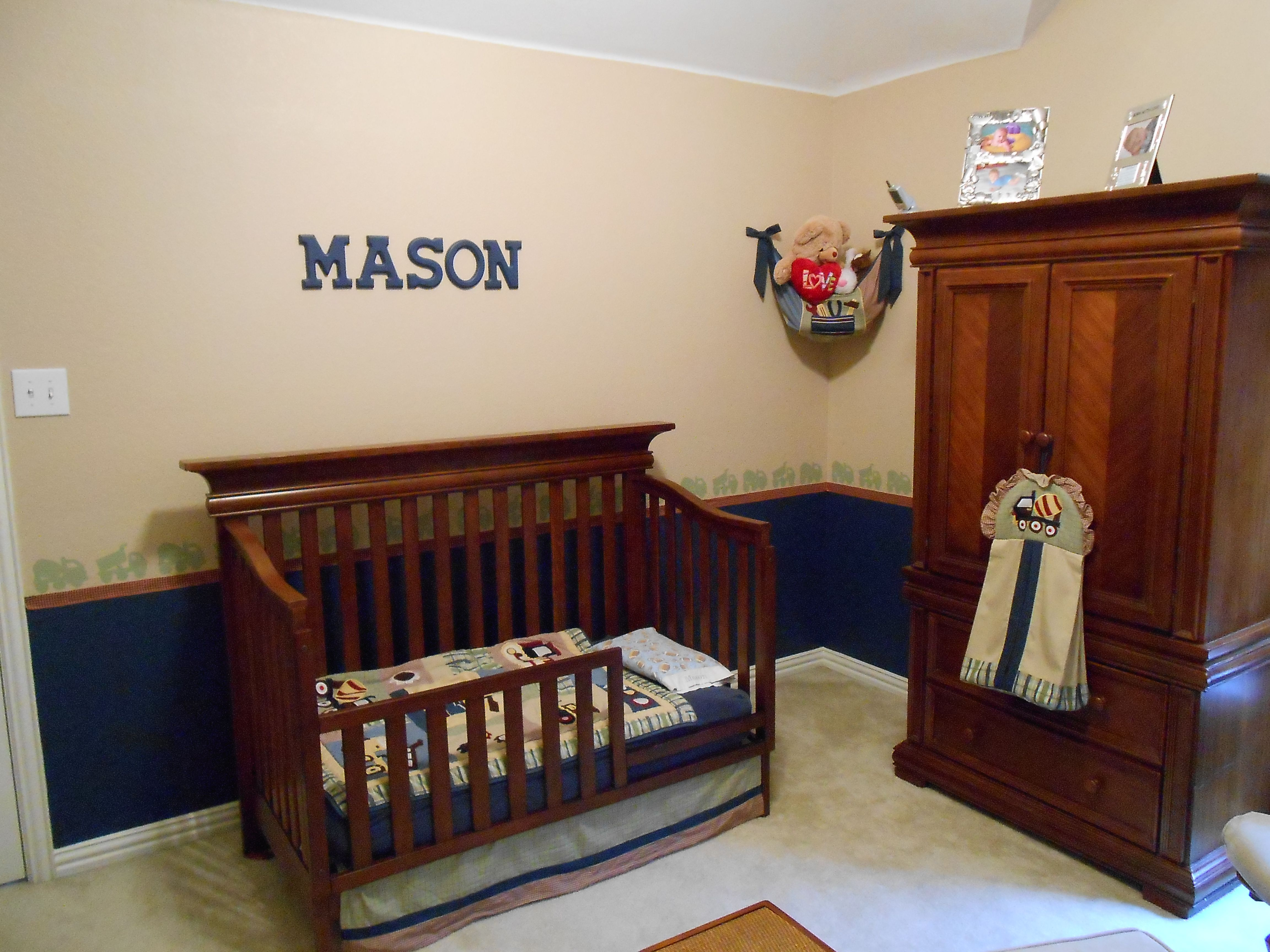 This is a baby boy toddler boy room I designed with the theme