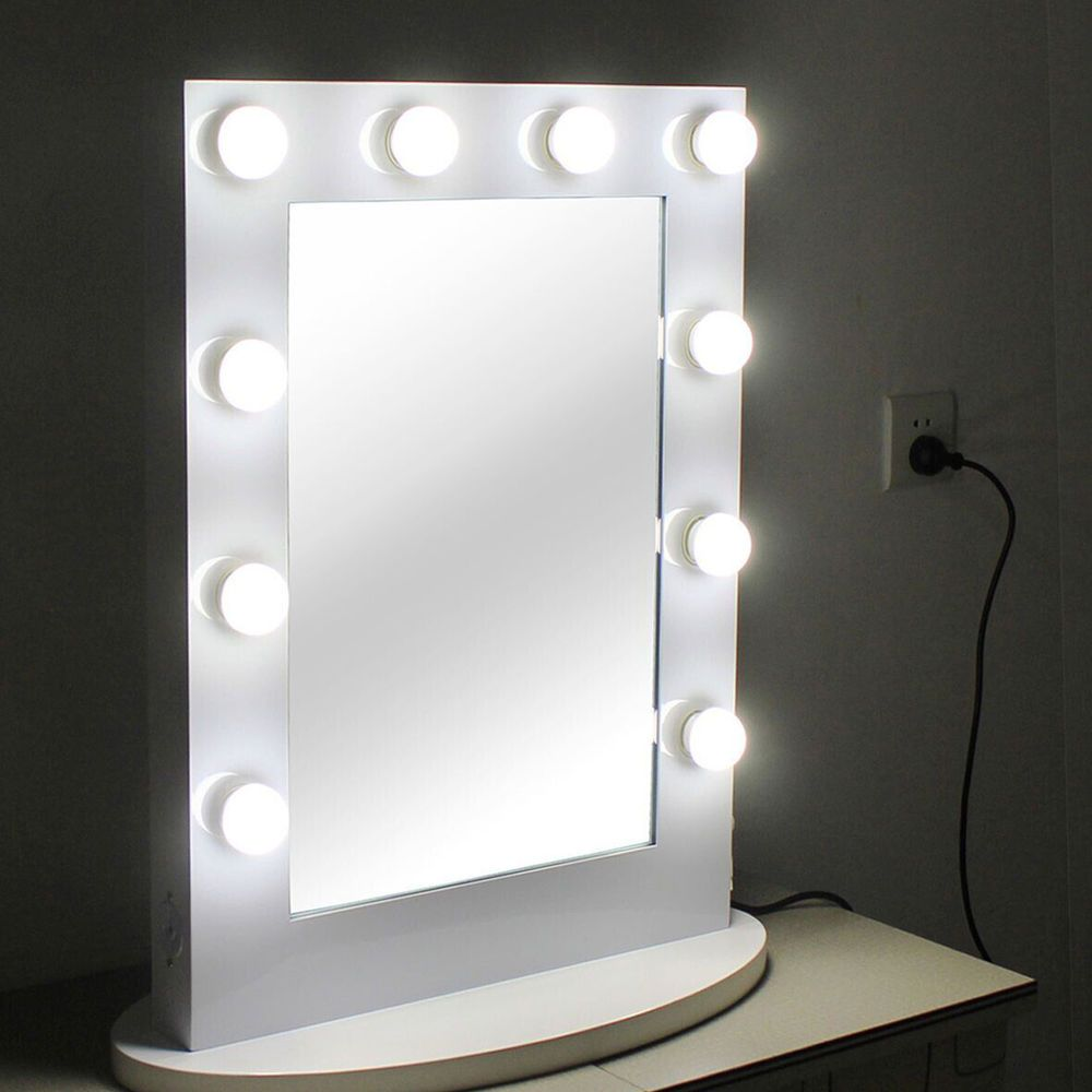 Chende Tabletops Vanity Mirror With Lights Hollywood Style With 12