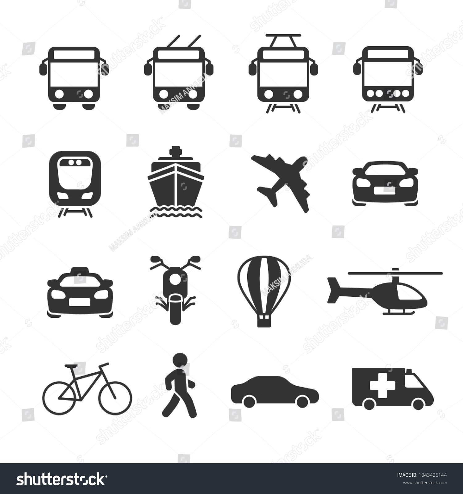 Vector image set of transport icons. #Sponsored , #Affiliate, #image#Vector#set#icons