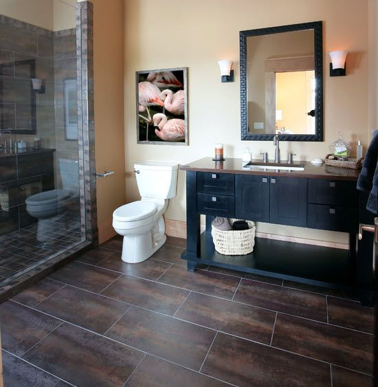Chocolate Brown Bathroom Floor Tiles Ideas And Pictures Home