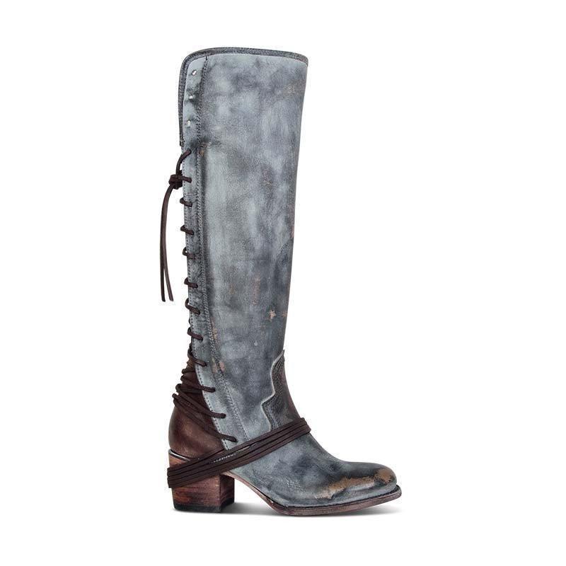 Vintage Lace Up Boots European Style