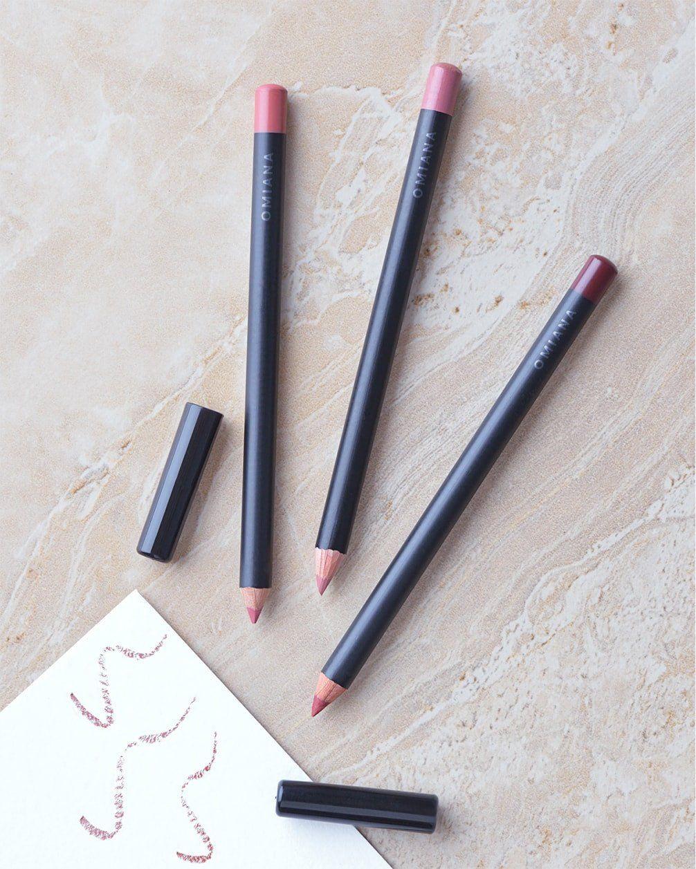 Mineral Lipliner Pencils No Titanium Dioxide, Mica