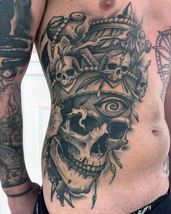 Tattoos For Guys Badass, Side