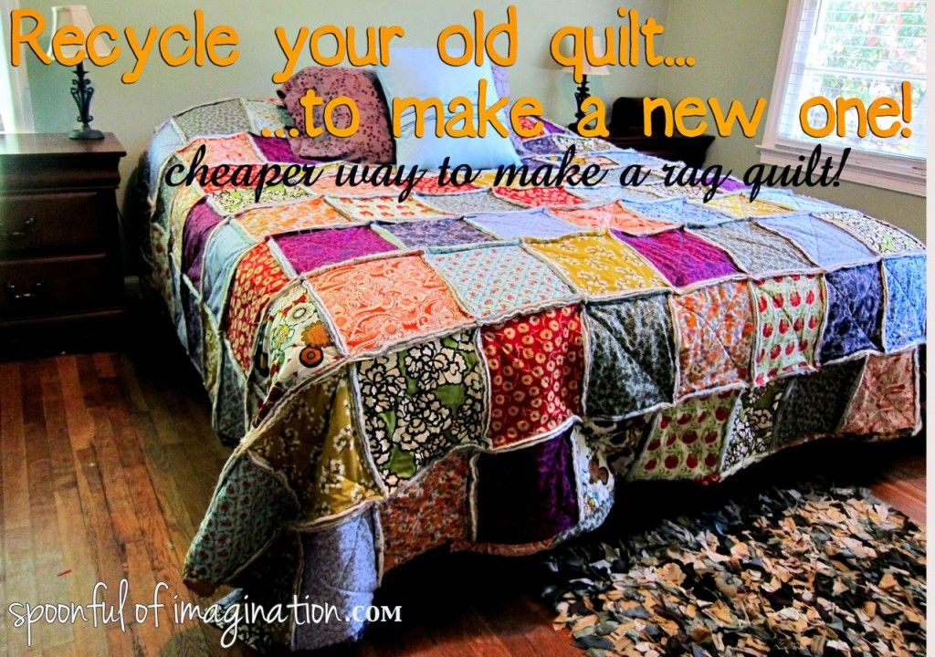 Diy King Size Rag Quilt Repost Rag Quilt Old Quilts