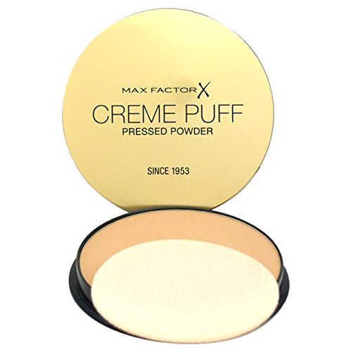 Max Factor Creme Puff Compact Face Powder makes glamorous skin simple to achieve with the luxurious finish of this high coverage powder make-up compact. It's perfect for all skin types and gives a flawless matt finish with a soft, subtle glow thanks to millions of miracle light reflecting particles. Choose your look by using it #cremepuff