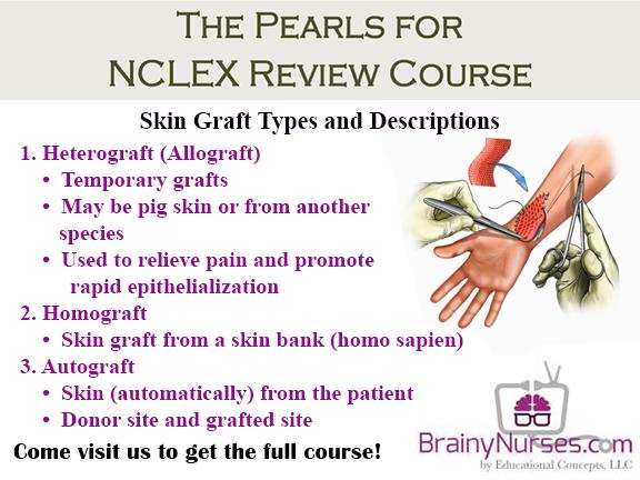 Skin Grafts Tips For The Nclex Brainynurses Com Fluid And Electrolyte Balance A Major Concern With Burns And Any Therm Burns Nursing Skin Grafting Burn Care