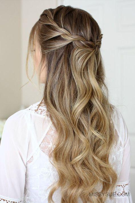Trendy Braided Hairstyles For Long Hair Sac Dalgalari Dalgali