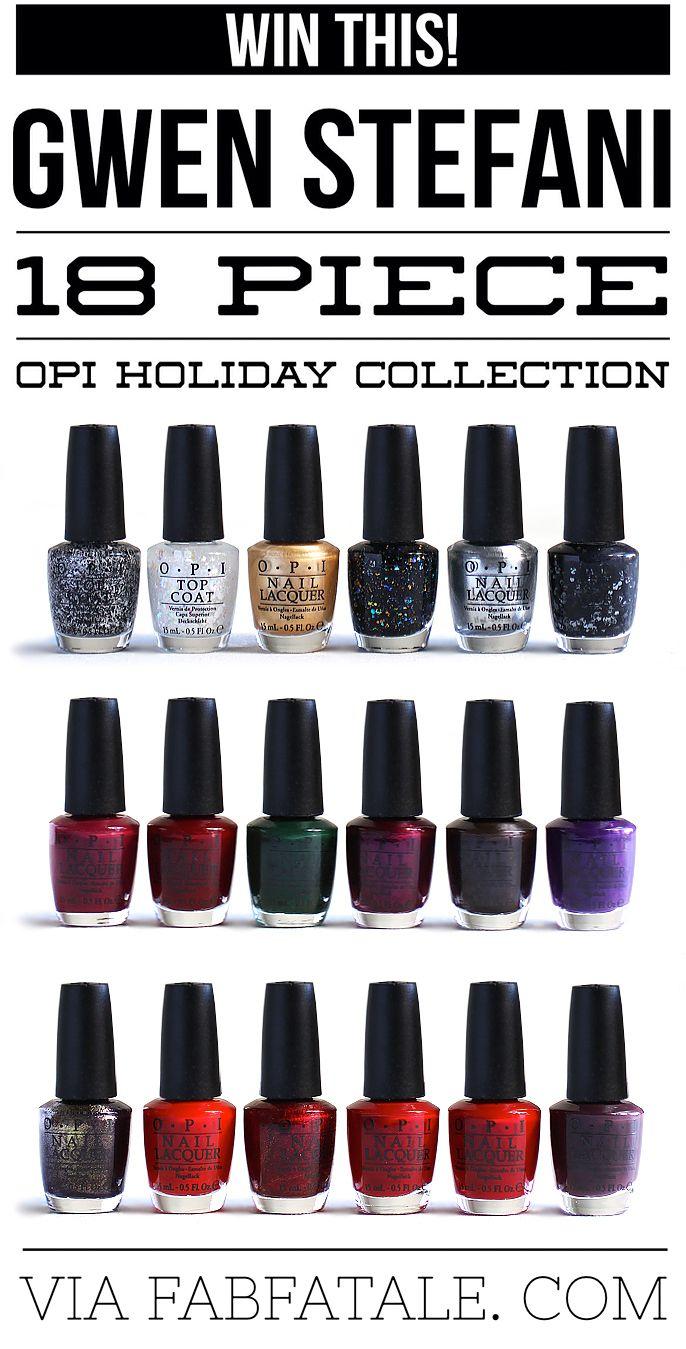 Win This! Gwen Stefani OPI 18-Piece Holiday Collection   Nail polish ...
