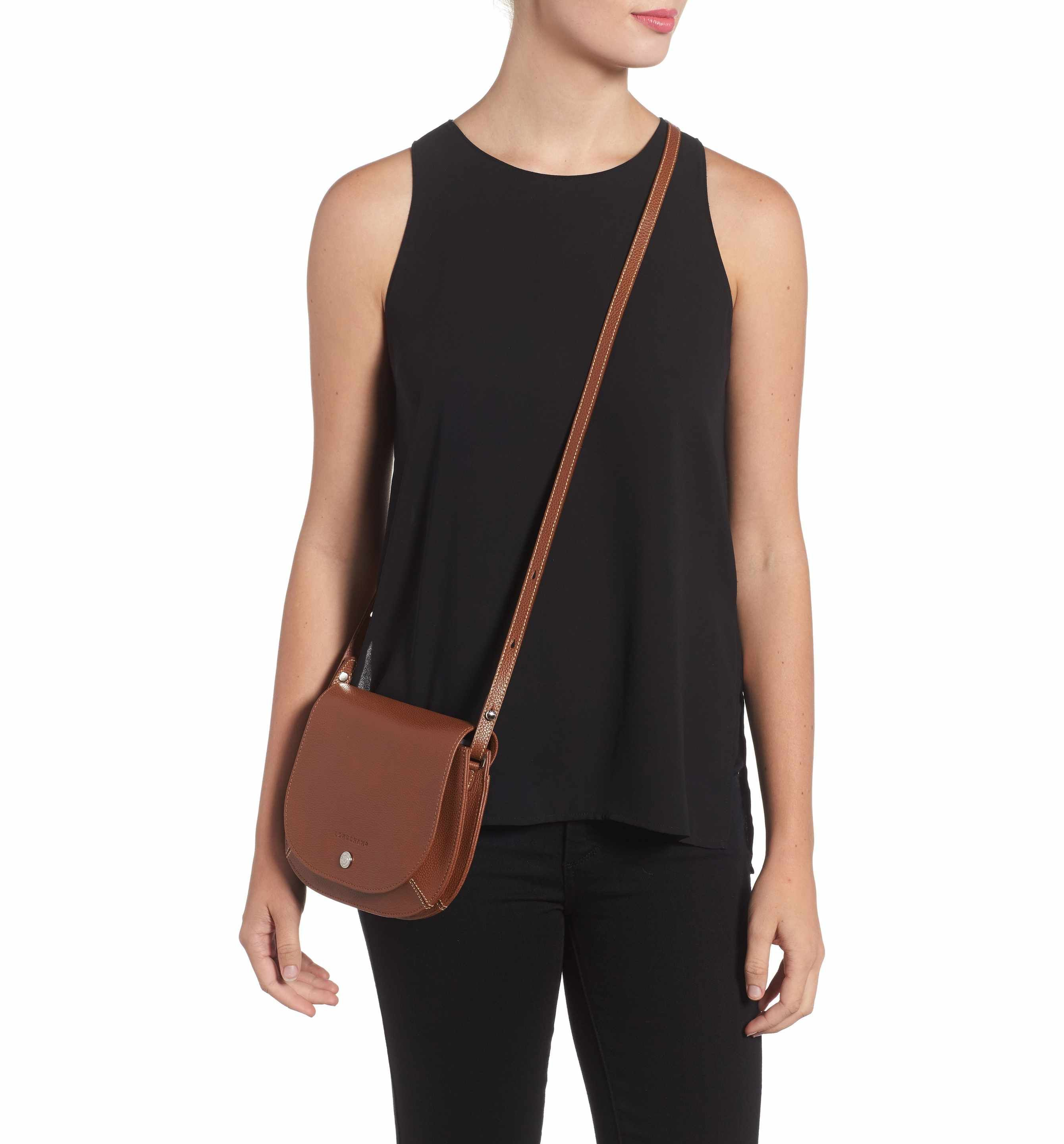 Main Image - Longchamp Small Le Foulonne Leather Crossbody Bag ... 6663fab9b0