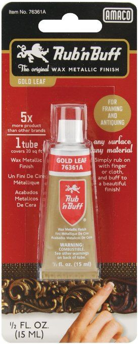 AMACO Rub \'n Buff Wax Metallic Finish, Gold Leaf, 0.5-Fluid Ounce ...