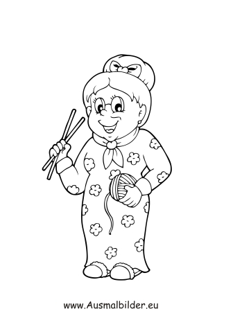 Ausmalbild Oma Zum Kostenlosen Ausdrucken Und Ausmalen Ausmalbilder Malvorlagen Kindergarten Grundsch Ausmalbilder Ausmalen Kostenlose Ausmalbilder