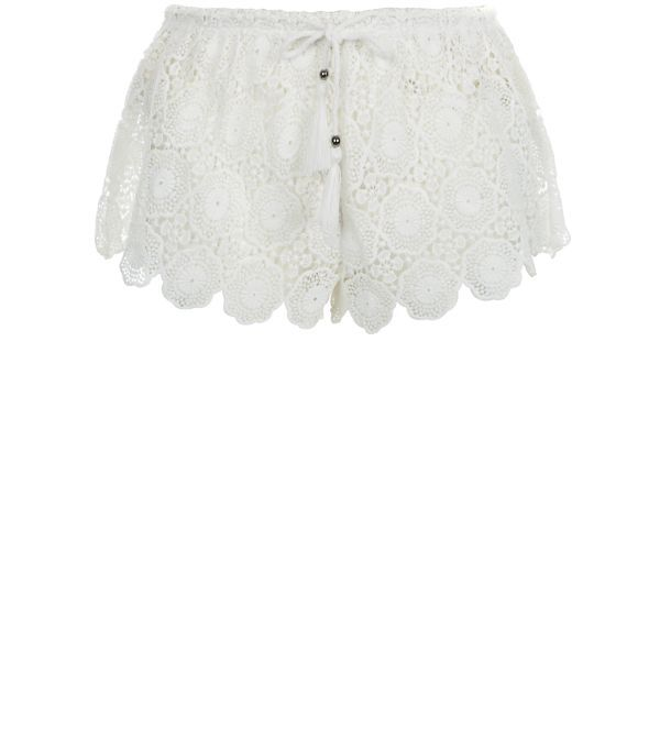 Cream Crochet Scallop Hem Shorts  £17.99 New Look