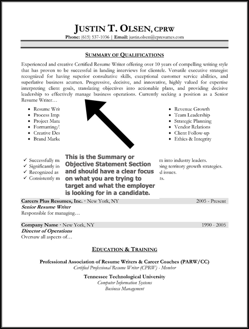 Resume Objective Statement Sample  HttpWwwResumecareerInfo