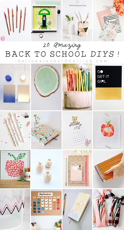 20 Amazing Back To School Diys Bloggers Best Diy Ideas Diy