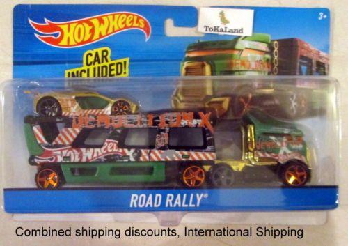 J3 Hot Wheels Green Road Rally Truck Hauling Rig W Car Hot Wheels Hot Wheels Ultimate Garage Hot Wheels Cars