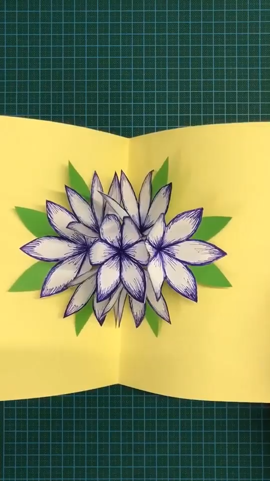 Diy 3d Flower Stereo Greeting Card Paper Crafts Origami Diy