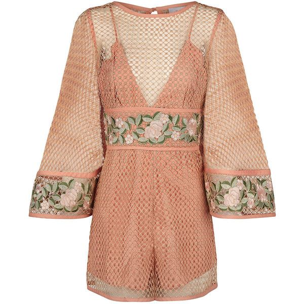 902e70f3e7 Alice McCall Antique Rose All Eyes On You Playsuit ( 455) ❤ liked on  Polyvore featuring jumpsuits