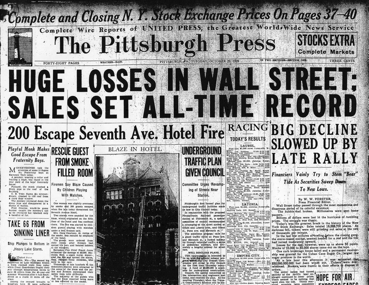 The Great Crash Of 1929 Arrived On Tuesday Oct 29 Stock