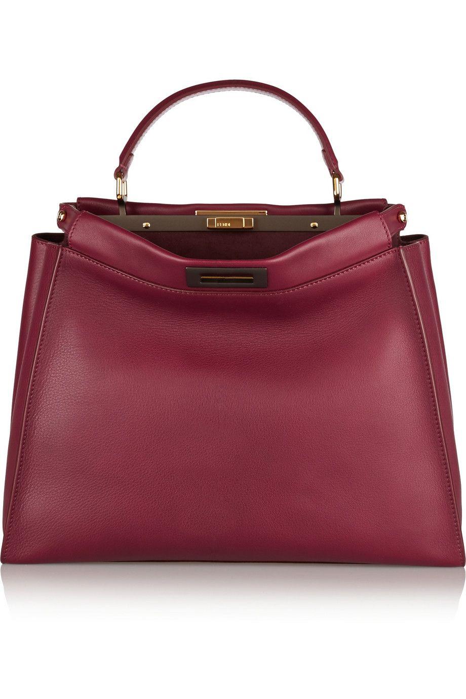 Fendi Peekaboo medium leather tote NET-A-PORTER.COM
