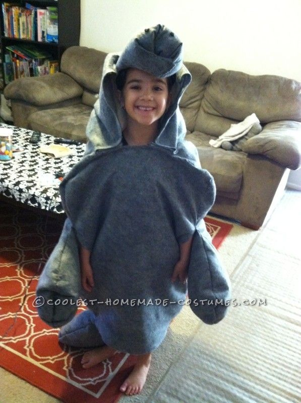 My daughter in the manatee costume
