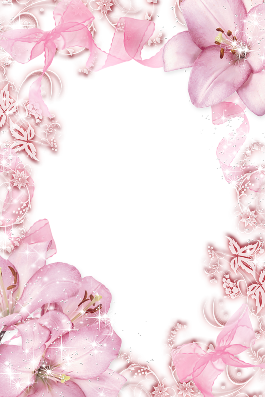 Розовая рамка для открытки