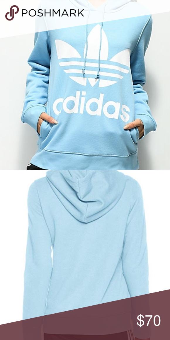 Baby blue Adidas hoodie   Adidas hoodie