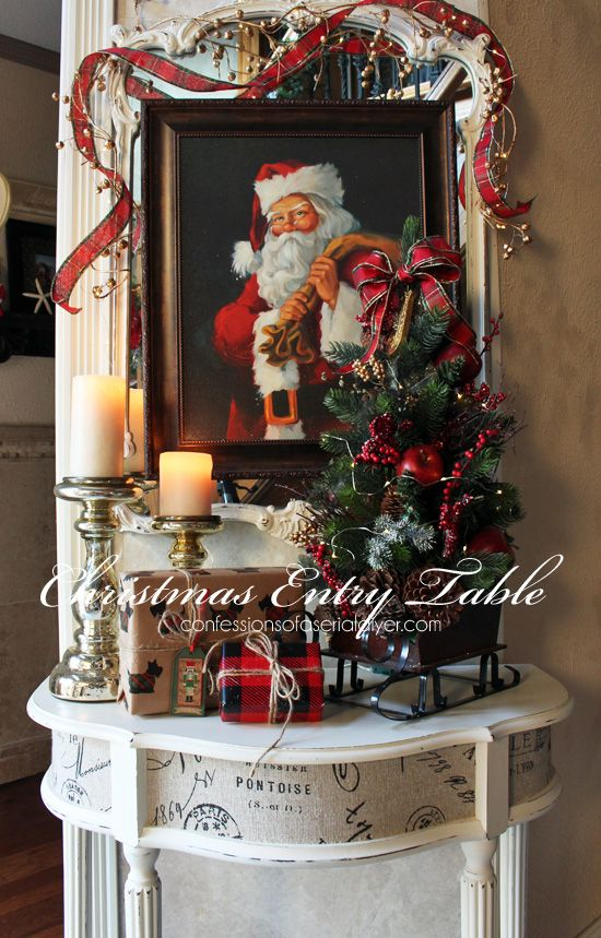 Christmas Entry Table A Décor Challenge Country