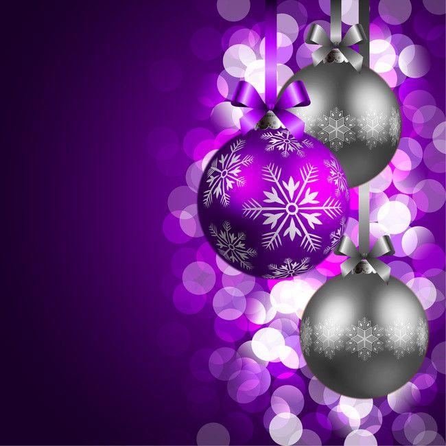 보라색 낭만적인 크리스마스 포스터 배경