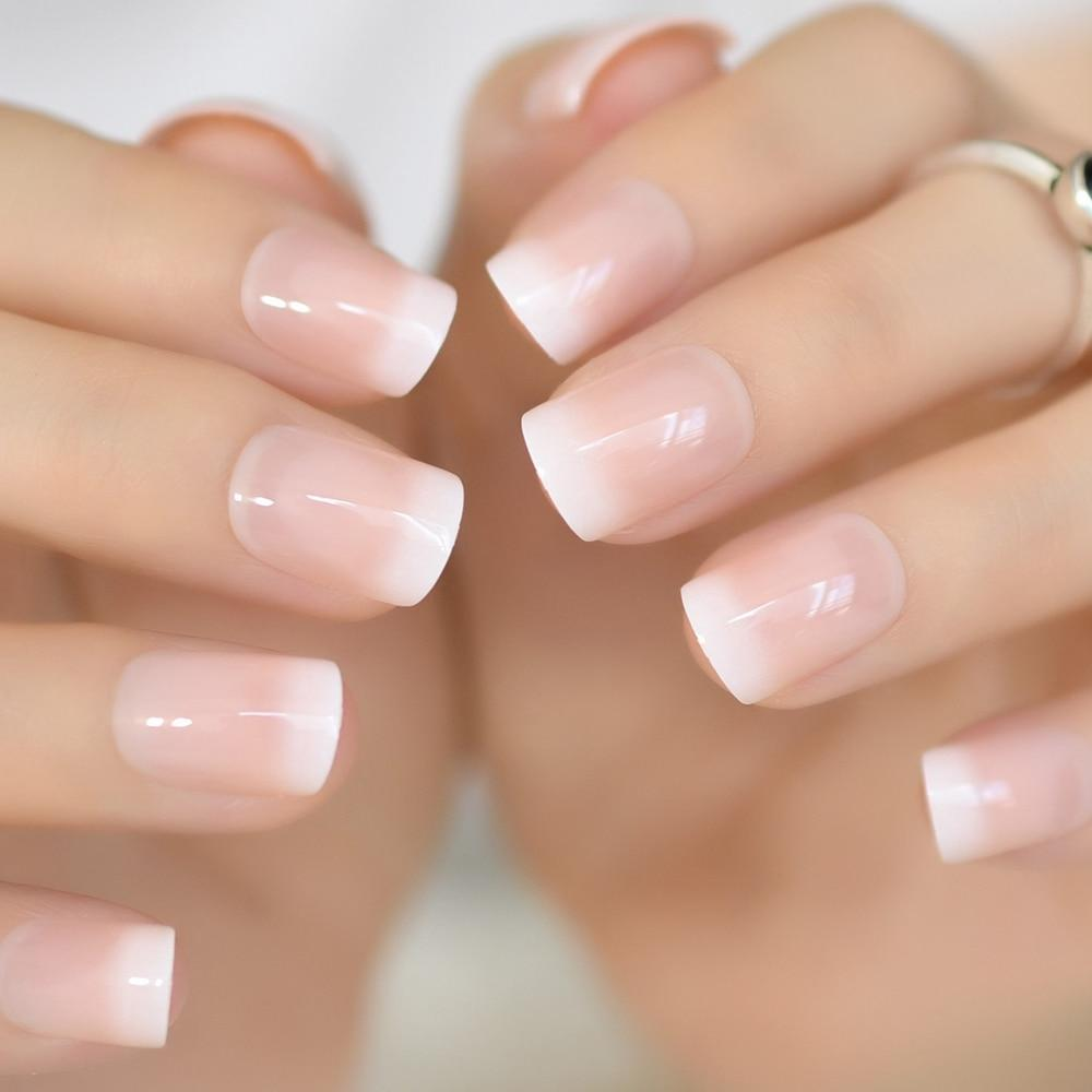 Ombre French Squoval Squoval Nails Nail Sizes Nail Length