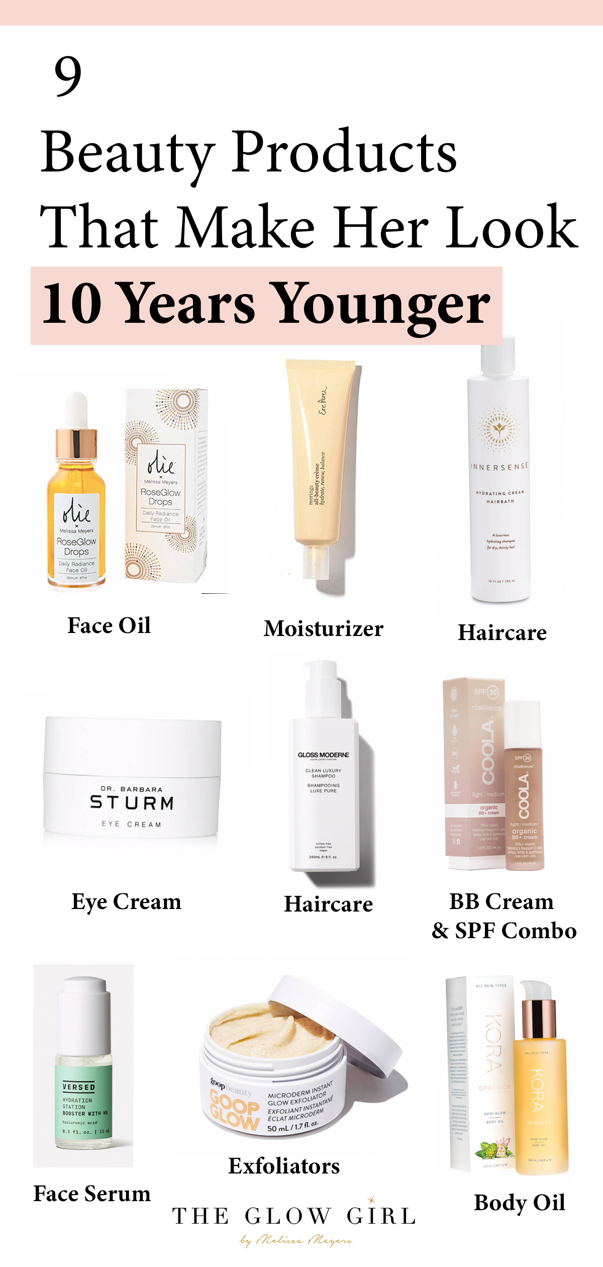Who What Wear Feature A 54 Year Old Shares 9 Beauty Products That Make Her Look 10 Years Younger The Glow Girl By Melissa Meyers Oil Face Moisturizer Top Beauty Products Makeup Hacks Tutorials