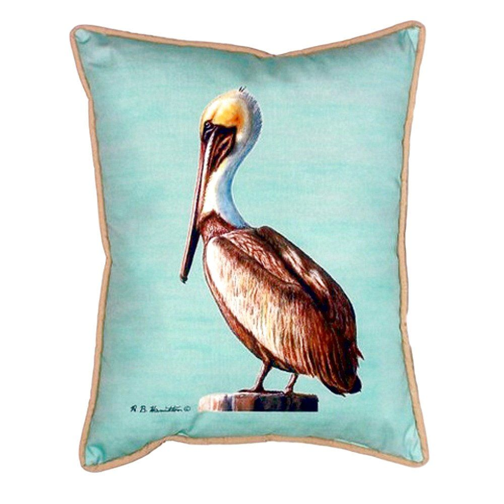 pelican teal extra large zippered indoor or outdoor pillow 20x24