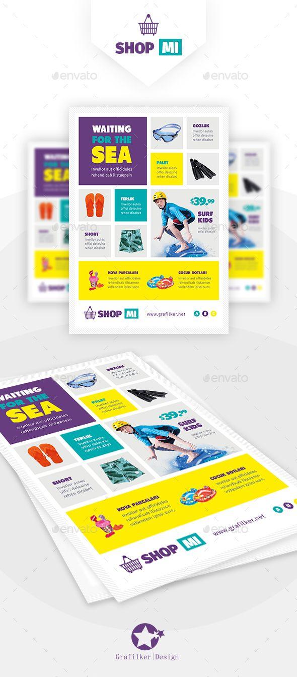 Products Flyer Templates | Material oficina, Folletos y Supermercado