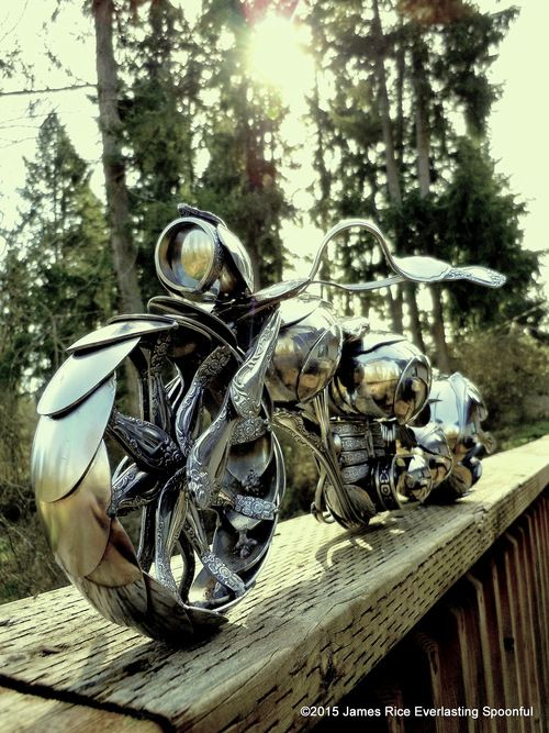 Everlasting Spoonful Home Of The Legacy Collection A Series Of Spoon Motorcycle Sculptures In 2020 Sheet Metal Art Metal Art Projects Metal Art