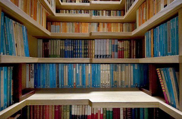 staircase of books - super idea!
