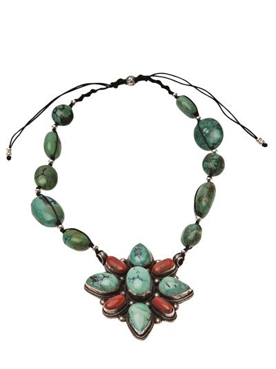 BLACK DAKINI Turquoise And Tibetan Stone Necklace