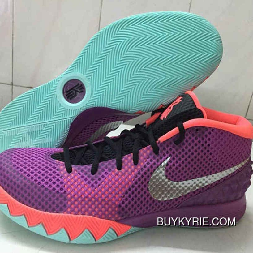 Shop Cheap Nike Kyrie 1 Medium Berry Purple Orange Black